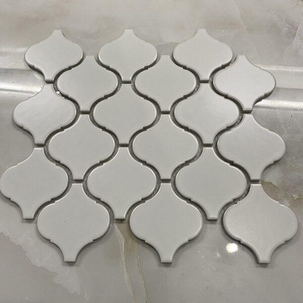 Gạch Mosaic Lồng Đèn Màu Trắng Mờ Ốp Bếp
