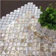 Gạch Mosaic Vảy Cá Xà Cừ Vỏ Sò