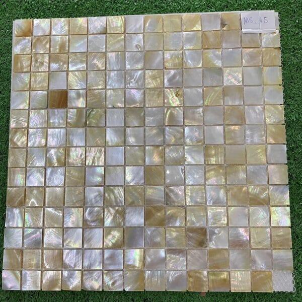 Gạch Mosaic Xà Cừ Vàng