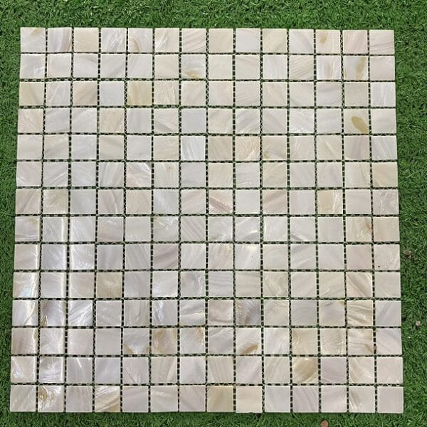 Gạch Mosaic Xà Cừ Trắng