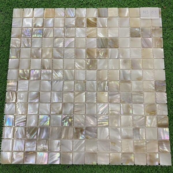 Gạch Mosaic Xà Cừ Vuông Màu vàng