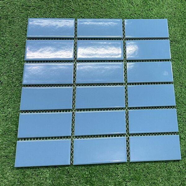 Gạch Mosaic Màu Xanh Nước Biển Men Bóng