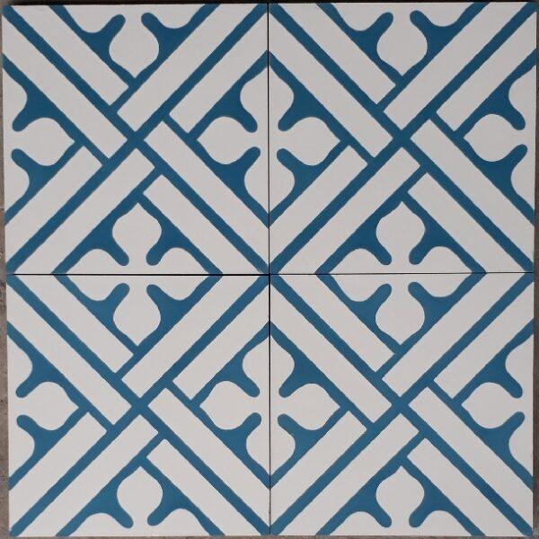 Gạch Bông Xi Măng Hoa Văn Màu Xanh 20×20 Cm