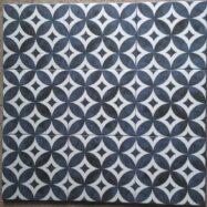 Gạch Bông Men Màu Xanh Đồng Tiền 20×20 Cm
