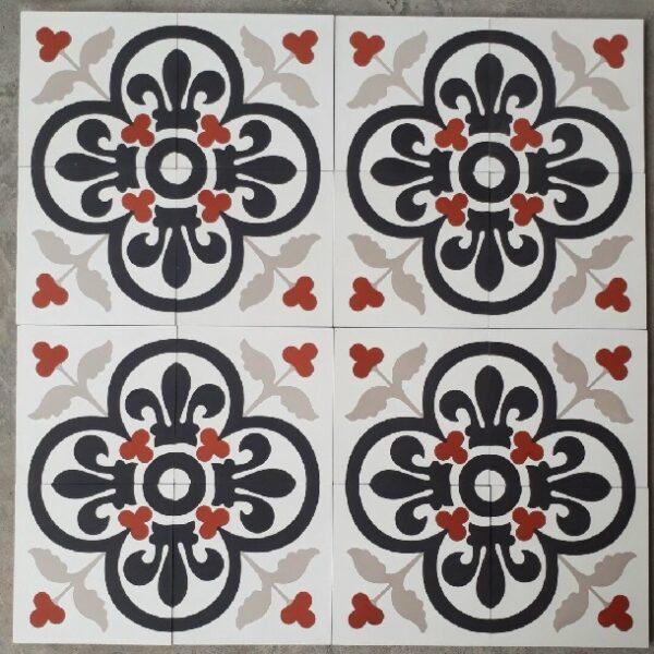 Gạch Bông Xi Măng 20×20 Cm Màu Đỏ