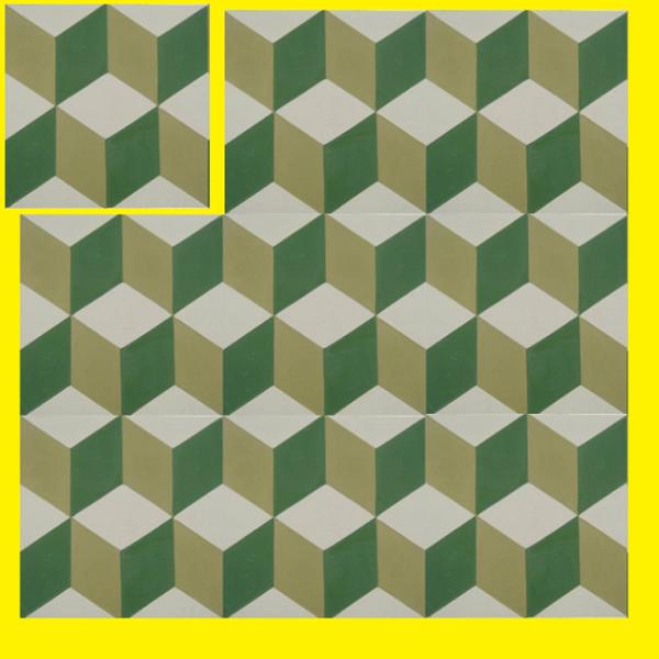 Gạch Bông Xi Măng 20 Màu Xanh