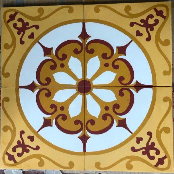 Gạch Bông Xi Măng Màu Vàng Cổ Điển