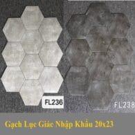 Gạch Lục Giác Giả Xi Măng Bê Tông 20×23 Cm