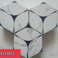 Gạch Lục Giác 20×23 Màu Trắng Đen