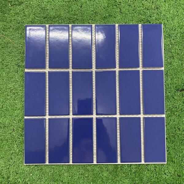 Gạch Mosaic Màu Xanh Men Bóng