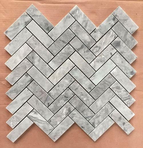 da mosaic cam thach hinh xuong ca su dung trang tri bep phong ve sinh