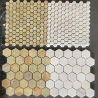 Đá Mosaic Đá Tự Nhiên Hình Lục Giác Tổ Ong