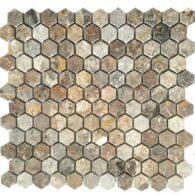 Đá Mosaic Lục Giác Tự Nhiên Màu Vàng Dăm
