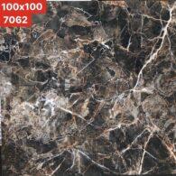 Gạch 100×100 Cm Vân Đá Màu Đen Bóng Kính Vitto 7062