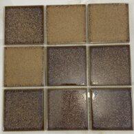 Gạch Mosaic Màu Nâu Vàng 10×10 Cm