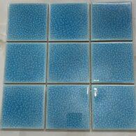 Gạch Mosaic Màu Xanh Biển 10×10 Cm Men Rạn