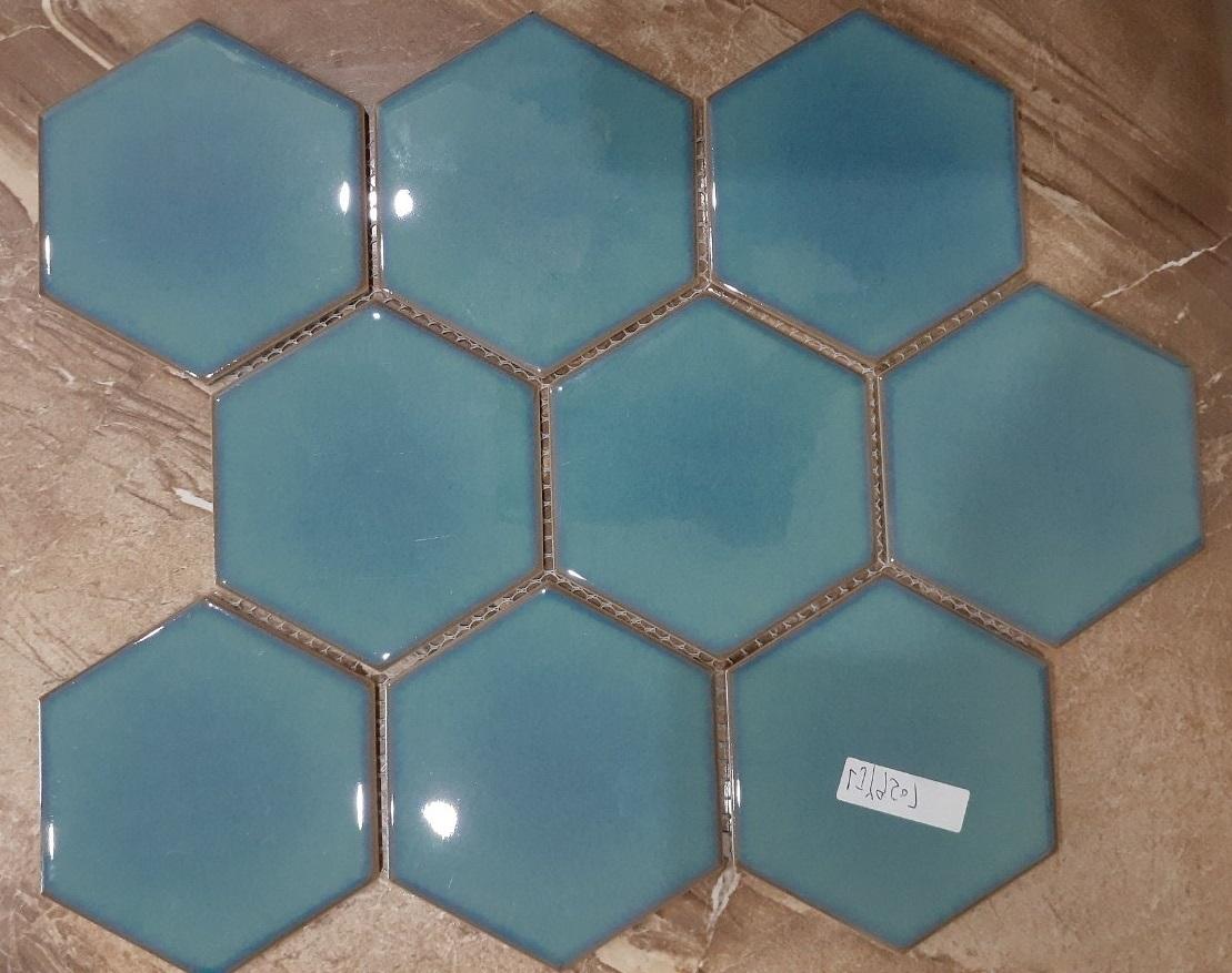 mosaic luc giac mau xanh nuoc bien op bep