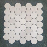 Đá Mosaic Hình Tròn – Đá Marble Tự Nhiên