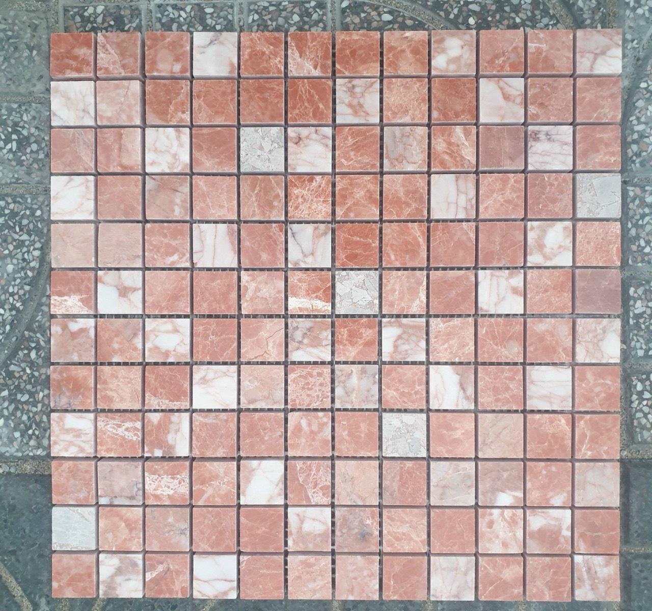 da mosaic tu nhien da marble mau hong