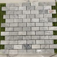 Gạch Mosaic Đá Tự Nhiên Marble Màu Trắng
