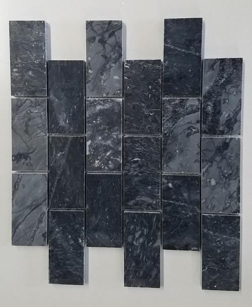 da op tuong mosaic marble mau den