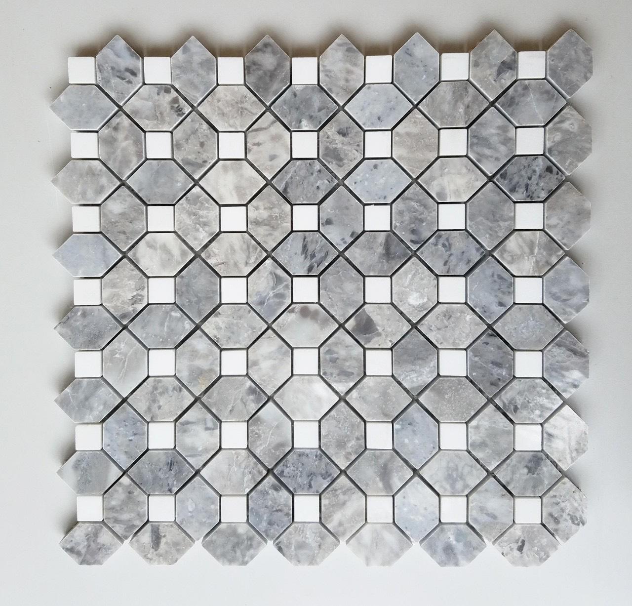 gach da mosaic da tu nhien marble mau xam den