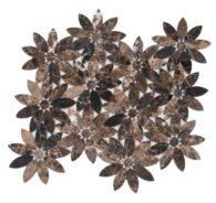 Gạch Đá Mosaic Hình Cánh Hoa Tự Nhiên Nâu Marble
