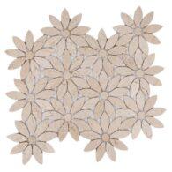 Gạch Đá Mosaic Cánh Hoa Đá Tự Nhiên