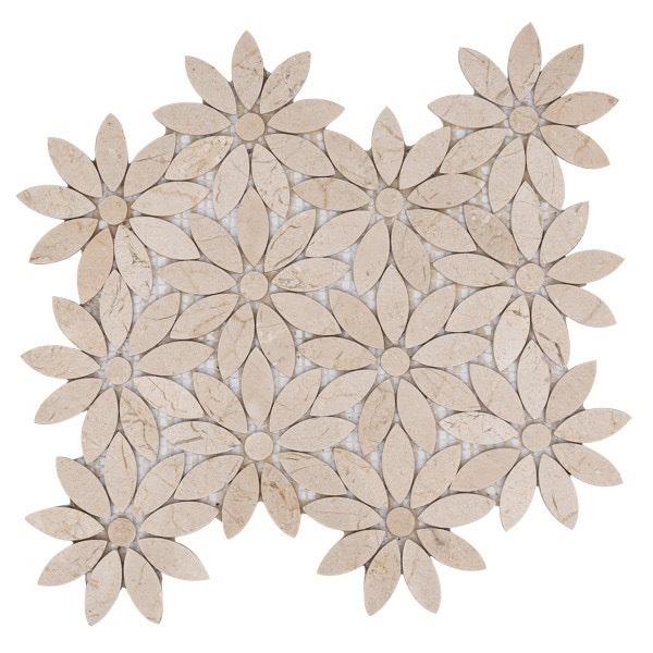gach mosaic canh hoa da tu nhien mau vang