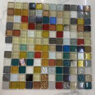 Gạch Mosaic Hỗn Hợp Nhiều Màu Thủy Tinh