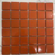 Gạch Mosaic Màu Cam Men Bóng