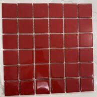 Gạch Mosaic Màu Đỏ Men Bóng