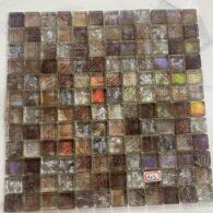 Gạch Mosaic Màu Nâu Cổ Điển Thủy Tinh
