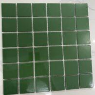 Gạch Mosaic Màu Xanh Lá Gốm Men Bóng