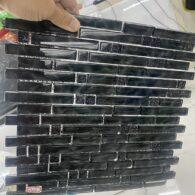 Gạch Mosaic Thanh Que Màu Đen Thủy Tinh