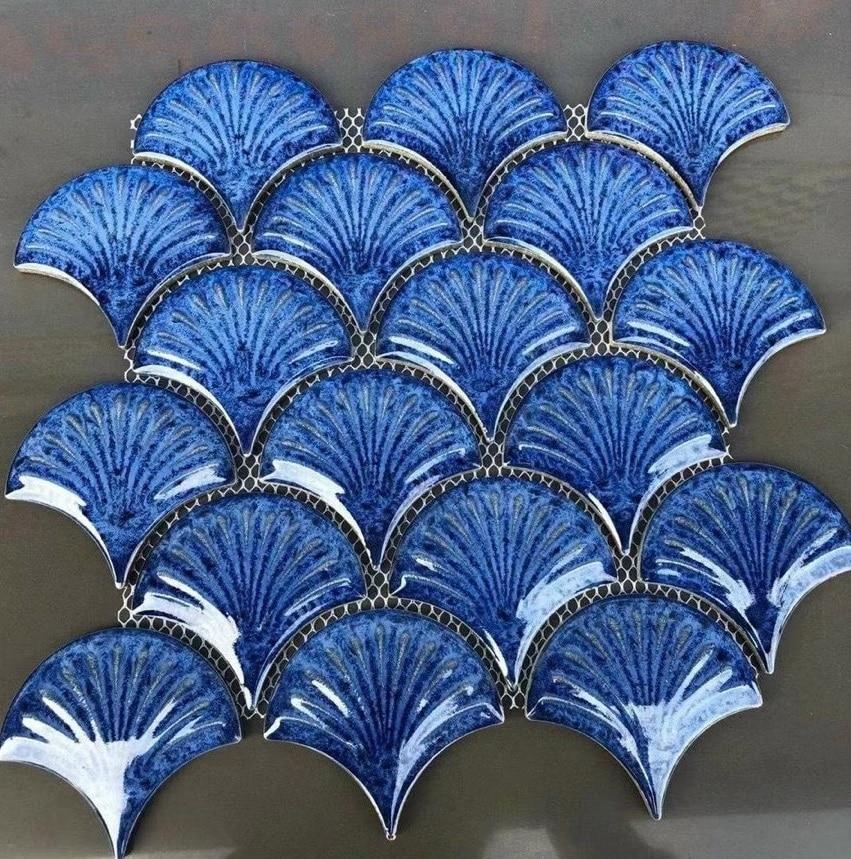 gach mosaic vay ca vay rong xanh duong