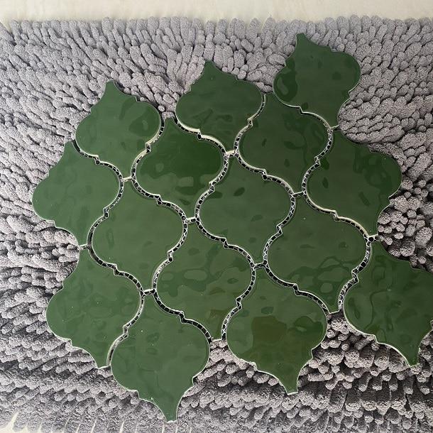 gach mosaic long den mau xanh
