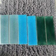 Gạch 6×20 Màu Xanh Lá Cây – Xan Biển Men Rạn