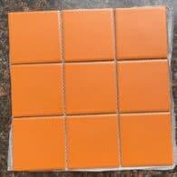 Gạch Mosaic Màu Cam 10×10 Cm