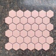 Gạch Mosaic Lục Giác Màu Hồng