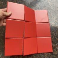 Gạch Mosaic 10×10 Cm Màu Đỏ Tươi