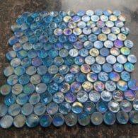 Gạch Mosaic Bi Tròn Màu Xanh